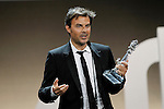 French director François Ozon receives the Best Script award of the 60th San Sebastian International Film Festival for his film 'Dans La Maison' (In the House) during the Awards Gala in the 60th San Sebastian Donostia International Film Festival - Zinemaldia.September 29,2012.(ALTERPHOTOS/ALFAQUI/Acero)