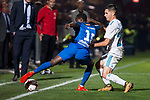Fuenlabrada Yaw Annor and Real Madrid Alvaro Tejero during Copa del Rey match between Fuenlabrada and Real Madrid at Fernando Torres Stadium in Madrid, Spain. October 26, 2017. (ALTERPHOTOS/Borja B.Hojas)