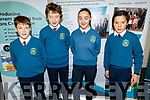 Scoil Eoin Balloonagh taking part in the Cara Credit Union School Quiz in the I T Tralee on Sunday. L to r: Jack Costello, Fionnán and Laura Ryan and Kai Scino.