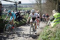 Fabian Cancellara (SUI/Trek-Segafredo) up the infamous Koppenberg<br /> <br /> 100th Ronde van Vlaanderen 2016