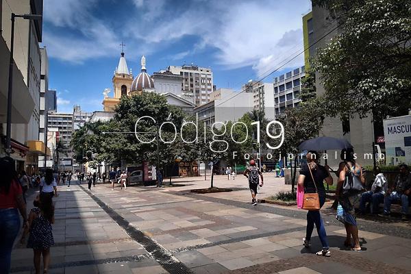Campinas (SP), 29/01/2021 - Comércio-SP - Movimentação no centro de Campinas nesta sexta-feira (29). A cidade está classificada na fase laranja do Plano São Paulo.