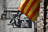 Europe/France/Languedoc-Roussillon/66/Pyrénées-Orientales/Conflent/Villefranche-de-Conflent: Détail enseigne boulangerie de la  Ville fortifiée