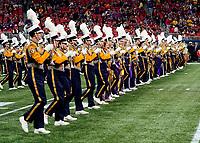 ATLANTA, GA - DECEMBER 7: LSU Marching Band during a game between Georgia Bulldogs and LSU Tigers at Mercedes Benz Stadium on December 7, 2019 in Atlanta, Georgia.