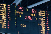 "European basketball championship ""Eurobasket 2013"" quarter-final basketball game between Serbia and Spain in Stozice Arena in Ljubljana, Slovenia, on September 18. 2013. (credit: Pedja Milosavljevic  / thepedja@gmail.com / +381641260959)"