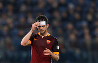 Calcio, Serie A: Roma vs Inter. Roma, stadio Olimpico, 19 marzo 2016.<br /> Roma's Miralem Pjanic reacts during the Italian Serie A football match between Roma and FC Inter at Rome's Olympic stadium, 19 March 2016. The game ended 1-1.<br /> UPDATE IMAGES PRESS/Riccardo De Luca