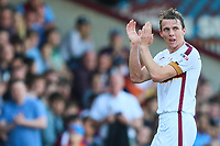 Stephen Warnock of Bradford City leaves the football field for the final time in his career during the Sky Bet League 1 match between Scunthorpe United and Bradford City at Glanford Park, Scunthorpe, England on 5 May 2018. Photo by Thomas Gadd.