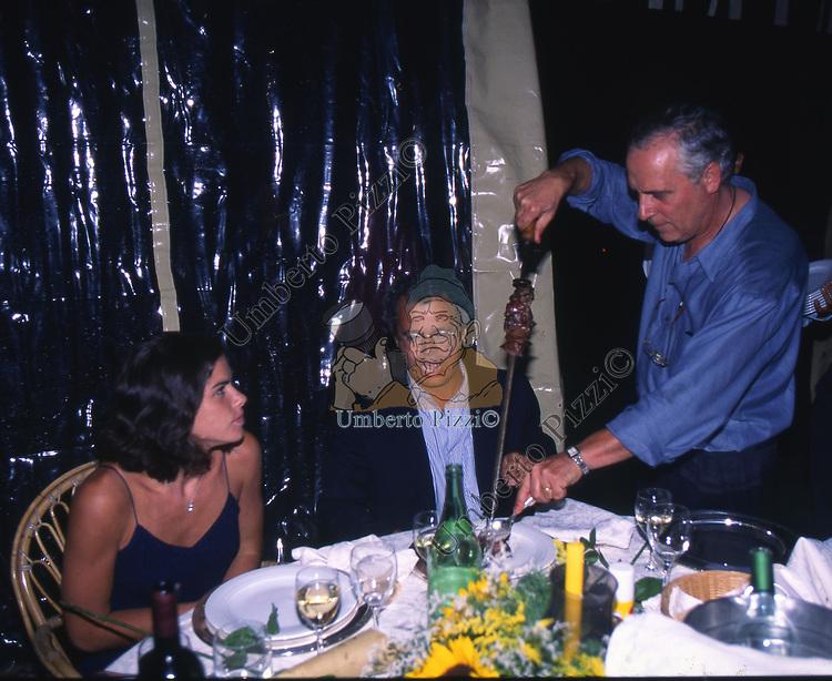 ENRICO MENTANA<br /> FESTA PER I 60 ANNI DI MAURIZIO COSTANZO<br /> MANEGGIO DI GIANNELLA  1998