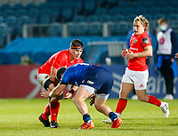 23th April 2021; RDS Arena, Dublin, Leinster, Ireland; Rainbow Cup Rugby, Leinster versus Munster; CJ Stander of Munster is tackled by Seán Cronin of Leinster
