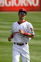 Wisconsin Timber Rattlers outfielder Sal Frelick (17) warms up in the outfield prior to a game against the Cedar Rapids Kernels on September 8, 2021 at Neuroscience Group Field at Fox Cities Stadium in Grand Chute, Wisconsin.  (Brad Krause/Four Seam Images)