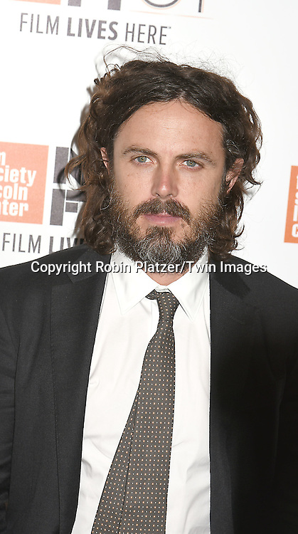 """Casey Affleck attends the """"Manchester by the Sea"""" Screening at the New York Film Festival on October 1, 2016 at Alice Tylly Hall in Lincoln Center in New York, New York, USA.<br /> <br /> photo by Robin Platzer/Twin Images<br />  <br /> phone number 212-935-0770"""