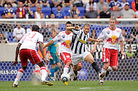 Antonio Candreva (26) of Juventus F. C. The New York Red Bulls defeated Juventus F. C. 3-1 during a friendly at Red Bull Arena in Harrison, NJ, on May 23, 2010.