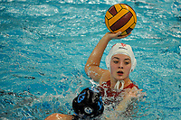 20200126 - GENT, BELGIUM : Gentse's (9) Laura Vandaele pictured during the waterpolo game Gentse KGZV and Eeklo MVZ , waterpolo game between Gentse KGZV and Eelko MVZ , at swimming pool Strop in Gent , saturday 1 th February 2020 . PHOTO SPORTPIX.BE | STIJN AUDOOREN