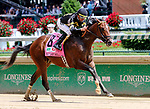 LOUISVILLE, KY - MAY 06: Wild Shot #8, ridden by Corey Lanerie, wins the Pat Day Mile Stakes   on Kentucky Derby Day at Churchill Downs on May 6, 2017 in Louisville, Kentucky. (Photo by Candice Chavez/Eclipse Sportswire/Getty Images)
