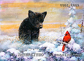 GIORDANO, CHRISTMAS ANIMALS, WEIHNACHTEN TIERE, NAVIDAD ANIMALES, paintings+++++,USGI2669,#XA# dogs,puppies