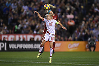 San Diego, CA - Sunday January 21, 2018: Pernille Harder prior to an international friendly between the women's national teams of the United States (USA) and Denmark (DEN) at SDCCU Stadium.