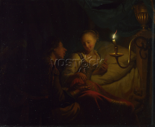 Full title: A Man Offering Gold and Coins to a Girl<br /> Artist: Godfried Schalcken<br /> Date made: about 1665-70
