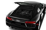 Car stock 2017 Audi R8 quattro 2 Door Coupe engine high angle detail view