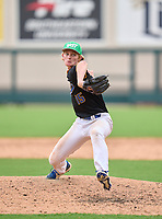 Largo Packers pitcher Harrison Povey (15) during the 42nd Annual FACA All-Star Baseball Classic on June 5, 2021 at Joker Marchant Stadium in Lakeland, Florida.  (Mike Janes/Four Seam Images)