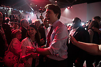 The 23rd Prime Minister of Canada, the Right Honorable Justin Trudeau greets the audience following his Keynote Address during the final day of the Liberal Biennial Convention at the RBC Convention Centre Saturday May 28, 2016 in Winnipeg.<br /> (David Lipnowski / Agence Québec Presse)