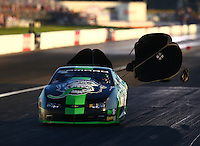 Sep 3, 2016; Clermont, IN, USA; NHRA pro stock driver Alex Laughlin during qualifying for the US Nationals at Lucas Oil Raceway. Mandatory Credit: Mark J. Rebilas-USA TODAY Sports