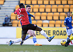 St Johnstone v Clyde…17.04.21   McDiarmid Park   Scottish Cup<br />Michael O'Halloran scores to make it 2-0<br />Picture by Graeme Hart.<br />Copyright Perthshire Picture Agency<br />Tel: 01738 623350  Mobile: 07990 594431