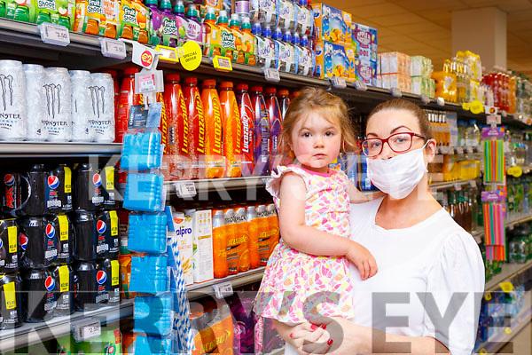 Stacey and Réidín Courtney Killarney shopping in Dalys SuperValu Killarney on Monday