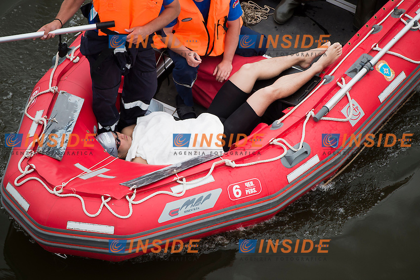 ZHANG Zibin CHN <br /> Open Water - Men's  25km <br /> Day 09 01/08/2015<br /> XVI FINA World Championships Aquatics Swimming<br /> Kazan Tatarstan RUS July 24 - Aug. 9 2015 <br /> Photo Giorgio Perottino/Deepbluemedia/Insidefoto