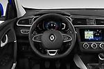 Car pictures of steering wheel view of a 2019 Renault Kadjar Intens 5 Door SUV Steering Wheel