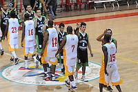 MEDELLÍN -COLOMBIA-16-08-2013. Aspecto del partido entre Academia de al Montaña y Caribbean heat de Cartagena en la fecha 1 Liga DirecTV de Baloncesto 2013-II de Colombia realizado en el coliseo de la Universidad de Medellín./ Aspect of match between Academia de la Montaña and Caribbean Heat de Cartagena on the 1th date of  DirecTV Basketball League 2013-II in Colombia at Universidad de Medellin coliseum.  Photo:VizzorImage/Luis Ríos/STR