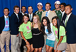 Bob and Mike Bryan pose with fans at the Freedoms vs. Explorers WTT match in Villanova, PA on July 16, 2012