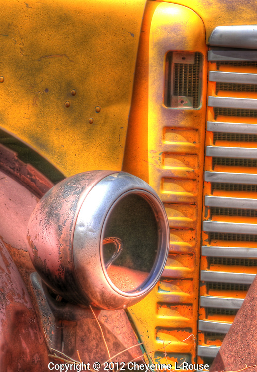 Yellow International Truck - Utah. © 2012 Cheyenne L Rouse/All rights reserved