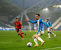 7th November 2020 The John Smiths Stadium, Huddersfield, Yorkshire, England; English Football League Championship Football, Huddersfield Town versus Luton Town; Harry Toffolo of Huddersfield Town attacking the Luton penalty area