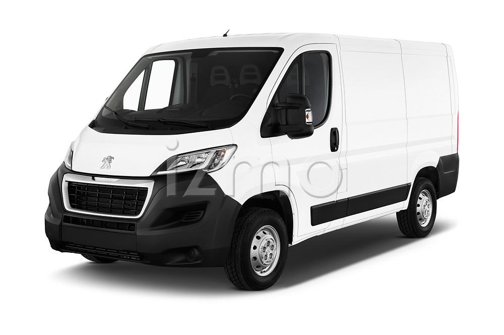 2018 Peugeot Boxer Pro 5 Door Cargo Van angular front stock photos of front three quarter view