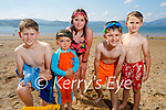 The O'Sullivan family from Ballymac enjoying Fenit beach on Tuesday, l to r: Shane, Daithi, Sophie, Kyle and Joshua O'Sullivan.