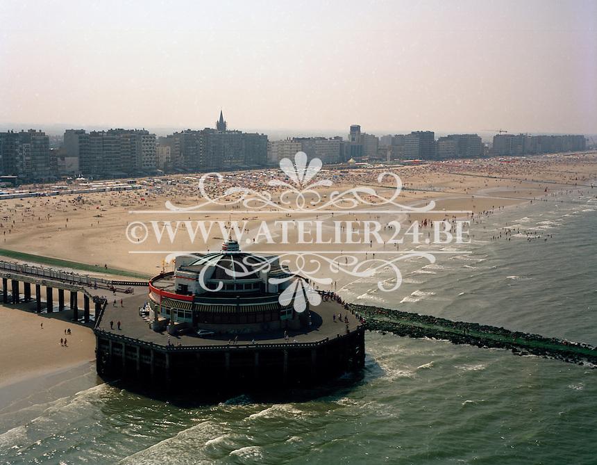 Augustus 1995. Strand van Blankenberge.