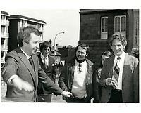 Joe Clark, le 12 avril 1979 <br /> <br /> PHOTO :  John Raudsepp - Agence Quebec presse