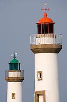 Europe/France/Bretagne/56/Morbihan/Belle-Ile /Le Palais: Détail des phares qui baisent l'entrée du port