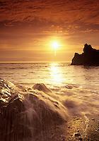 Sunset at Ruby Beach. Olympic National Park, Washington