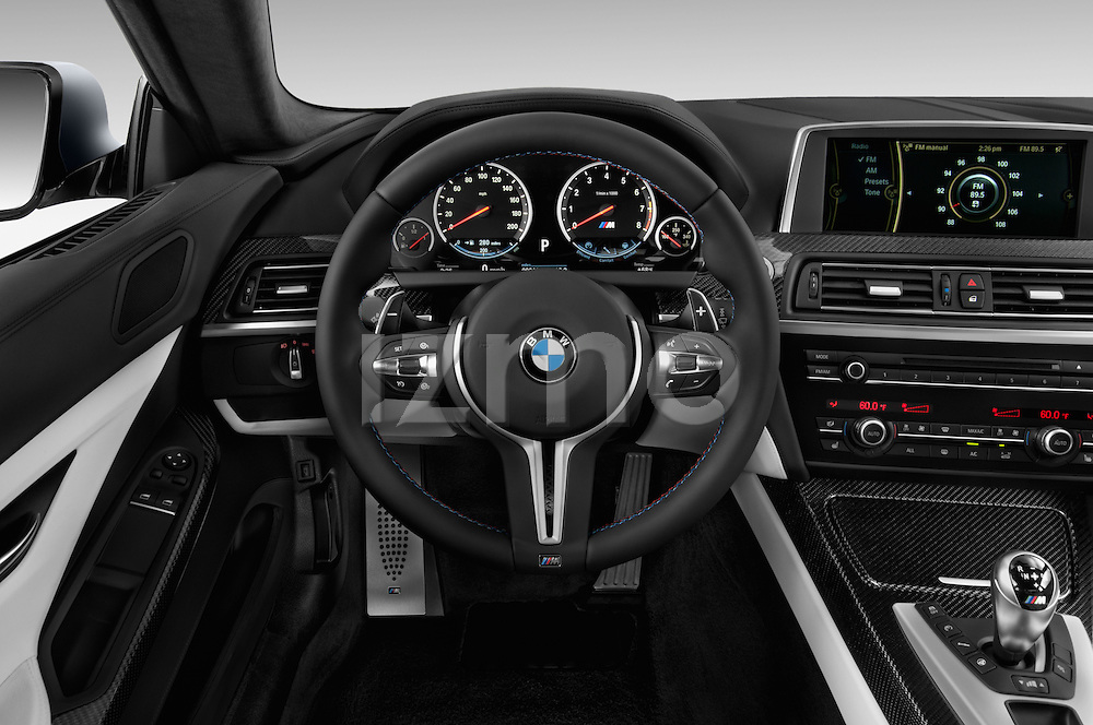 Car pictures of steering wheel view of a 2016 BMW M6 Coupe - 3 Door Coupe Steering Wheel