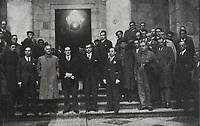 Spanish Civil War (1936-1939). The lehendakari José Antonio Aguirre and the Basque Concentration Government (7th October 1936)