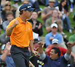 Feb 22, 2009: Scott McCarron celebrates at the Northern Trust Open 2009 in the Pacific Palisades, California.