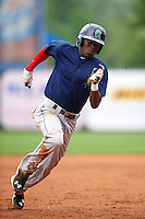 Cedar Rapids Kernels shortstop Nick Gordon (5) running the bases during a game against the West Michigan Whitecaps on June 7, 2015 at Fifth Third Ballpark in Comstock Park, Michigan.  West Michigan defeated Cedar Rapids 6-2.  (Mike Janes/Four Seam Images)