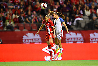 Vancouver, Canada - Thursday November 09, 2017: Janine Beckie, Kelley O'Hara during an International friendly match between the Women's National teams of the United States (USA) and Canada (CAN) at BC Place.