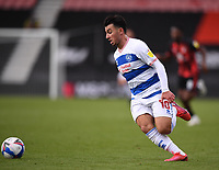 17th October 2020; Vitality Stadium, Bournemouth, Dorset, England; English Football League Championship Football, Bournemouth Athletic versus Queens Park Rangers; Ilias Chair of Queens Park Rangers lines up to shoot at goal