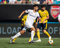 CHARLOTTE, NC - JULY 20: Marco Benassi #24 during a game between ACF Fiorentina and Arsenal at Bank of America Stadium on July 20, 2019 in Charlotte, North Carolina.