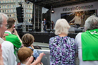 Brendan Cox (Jo Cox's husband).<br /> <br /> London, 22/06/2016. Today, thousands of people gathered in Trafalgar Square to celebrate the life Jo Cox, the Labour Member of Parliament who was brutally killed by the far-right extremist Thomas Mair on the 16th of June 2016. From the organisers Facebook page: <<[…] We will gather together in Trafalgar Square to celebrate Jo's warmth, love, energy, passion, flair, Yorkshire heritage, and belief in the humanity of every person in every place, from Batley and Spen to Aleppo and Darayya. Jo believed that there is more that unites us than divides us, and she was killed for those beliefs. She believed in a love that is fierce, brave and humble. Her death has devastated a family, and attacked the ideals that we as a nation most cherish. But we will not be divided. We will rise up together to carry Jo's message forward. We will meet hate with love. On the day Jo would have been 42, we are asking everyone, everywhere to love like Jo loved. Jo's legacy is a direct challenge to everyone here, to take part, speak up and be a voice for the voiceless, to treat even those we disagree with with tolerance and genuine respect. Let's honour Jo on Wednesday by carrying forward the message that she now symbolises around the world - that we have #moreincommon than that which divides us.>>.<br /> <br /> For more information about the event please click here: https://www.facebook.com/events/1369130213102106/<br /> <br /> For more information about the death of Jo Cox please click here: https://en.wikipedia.org/wiki/Death_of_Jo_Cox & http://www.bbc.co.uk/news/uk-england-36550304