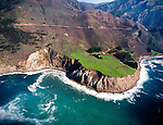 Aerial view of Big Sur Coast Highway 1, Central Coast of California