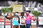Marc Hirschi (SUI) Team Sunweb wins La Fleche Wallonne 2020, with Benoit Cosnefroy (FRA) AG2R La Mondiale in 2nd place and Michael Woods (CAN) EF Pro Cycling 3rd, running 202km from Herve to Mur de Huy, Belgium. 30th September 2020.<br /> Picture: ASO/Gautier Demouveaux   Cyclefile<br /> All photos usage must carry mandatory copyright credit (© Cyclefile   ASO/Gautier Demouveaux)