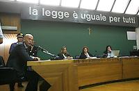 NAPOLI 01/10/2010..UDIENZA PROCESSO CALCIOPOLI ..NELLA FOTO  LUIGI COLLINA..FOTO PARTENOPRESS INSIDEFOTO..