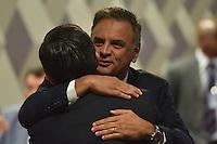 BRASÍLIA, DF, 21.02.2017 – SABATINA-SENADO – O senador Aécio Neves durante sabatina na manhã desta terça-feira, 21, na CCJ do Senado. (Foto: Ricardo Botelho/Brazil Photo Press)